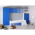 Camera tineret Natalia, alb + albastru, 364 cm, 8C