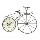 Ceas perete BLC066-1, analog, forma bicicleta, din metal + MDF + hartie, 38 x 27.5 x 5 cm