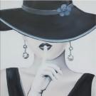 Tablou 118 DL-55102, canvas + lemn de brad + vopsea acrilica, stil modern, 55 x 55 cm