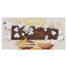 Tablou 118 DL-08014, canvas + lemn de brad + vopsea acrilica, stil floral, 50 x 100 cm