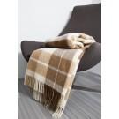 Patura Comfort desen 2 140 x 200 cm, lana + poliester, alb + maro