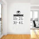Sticker decorativ perete, bucatarie, Reguli bucatarie, PT2323, 50 x 50 cm