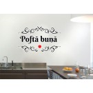 Sticker decorativ perete, bucatarie, Pofta buna, PT2324, 43 x 70 cm