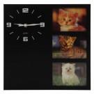 Ceas perete YQ0275, analog, patrat, din plastic, 30 x 30 x 4.2 cm
