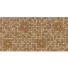 Panou decorativ Mosaic Brown Medallion, PVC, maro, 95.7 x 48 cm, 0.4 mm