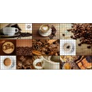 Panou decorativ Mosaic Coffee House, PVC, multicolor, 95.7 x 48 cm, 0.3 mm