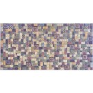 Panou decorativ Mosaic Tavertine Sprikling, PVC, multicolor, 93.5 x 47 cm, 0.4 mm