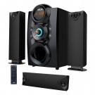 Sistem audio Akai SS028A-3208C, configuratie 3.1, 75 W, Bluetooth, USB, SD card, radio FM, negru, telecomanda