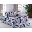 Lenjerie de pat, 2 persoane, Geometrical, bumbac 100%, 4 piese, multicolor