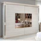 Dulap dormitor Onix L220, ulm deschis, 2 usi, cu oglinda, 220.5 x 62 x 213 cm, 9C