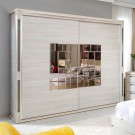 Dulap dormitor Onix L235, ulm deschis, 2 usi, cu oglinda, 235.5 x 62 x 213 cm, 9C