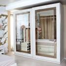 Dulap dormitor Opera L278/H230, crem, 2 usi, cu oglinda, 278.5 x 62 x 230 cm, 9C