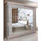 Dulap dormitor Allegro L235, ulm inchis, 2 usi, cu oglinda, 235.5 x 62 x 213 cm, 9C
