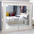 Dulap dormitor Allegro L235, ulm deschis, 2 usi, cu oglinda, 235.5 x 62 x 213 cm, 9C