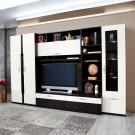 Biblioteca living Vanity, wenge + crem lucios, 312 cm, 13C