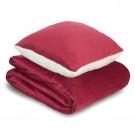 Set patura si perna Dormeo Warm Hug, 200 x 200 cm, rosu