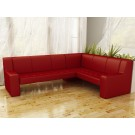 Coltar bucatarie Carina, pe stanga, rosu, 222 x 170 x 90 cm, 2C