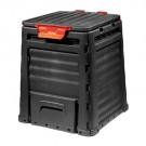 Lada compost, pentru gradina, Curver E-Composter, din PVC, negru, 65 x 65 x 75 cm, 320 L