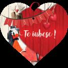 Tablou cu mesaj Valentine s Day, ES9506, inima, 22 x 20 cm