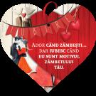 Tablou cu mesaj Valentine s Day, ES9516, inima, 22 x 20 cm