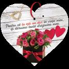 Tablou cu mesaj Valentine s Day, ES9929, inima, 22 x 20 cm
