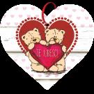 Tablou cu mesaj Valentine s Day, ES9902, inima, 22 x 20 cm