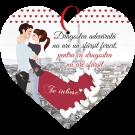 Tablou cu mesaj Valentine s Day, ES9908, inima, 22 x 20 cm