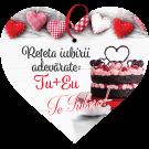 Tablou cu mesaj Valentine s Day, ES9909, inima, 22 x 20 cm