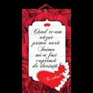 Tablou mic cu mesaj Valentine s  Day, ES9917, dreptunghiular, 25 x 14 cm