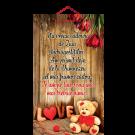 Tablou mic cu mesaj Valentine s  Day, ES9918, dreptunghiular, 25 x 14 cm