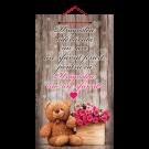 Tablou mic cu mesaj Valentine s  Day, ES9919, dreptunghiular, 25 x 14 cm