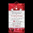 Tablou cu mesaj Valentine s Day, ES9528, dreptunghiular, 48 x 26 cm