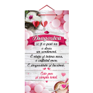 Tablou cu mesaj Valentine s Day, ES9522, dreptunghiular, 48 x 26 cm