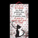 Tablou cu mesaj Valentine s Day, ES9523, dreptunghiular, 48 x 26 cm