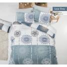 Lenjerie de pat, Grey Lace, 1 persoana, bumbac 100%, 160 x 220 cm, 3 piese