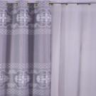 Draperie Linen H2 17392W, poliester, gri + alb, H 280 cm