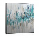 Tablou Canbox 03465, inramat, pe panza, stil abstract, Nuante albastre II, 60 x 60 cm