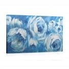 Tablou 03455, pe panza, stil clasic, Trandafiri albastri, 50 x 100 cm