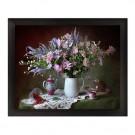 Tablou 03165, inramat, pe panza, stil clasic, Vaza cu flori, 40 x 50 cm