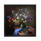 Tablou 03168, inramat, pe panza, stil clasic, Flori de camp II, 60 x 60 cm