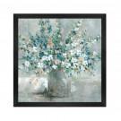 Tablou 03459, inramat, stil clasic, Flori albastre, 60 x 60 cm