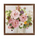 Tablou 03460, inramat, stil clasic, Trandafiri infloriti I, 60 x 60 cm