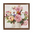 Tablou 03461, inramat, stil clasic, Trandafiri infloriti II, 60 x 60 cm