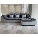 Coltar living extensibil pe stanga Florence, cu lada, gri inchis + gri deschis, 280 x 170 x 75 cm, 3C