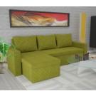Coltar living extensibil pe stanga / dreapta Amadeo, cu lada, verde, 247 x 148 x 69 cm, 3C