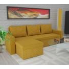 Coltar living extensibil pe stanga / dreapta Amadeo, cu lada, galben, 247 x 148 x 69 cm, 3C