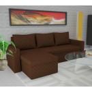 Coltar living extensibil pe stanga / dreapta Amadeo, cu lada, maro, 247 x 148 x 69 cm, 3C