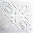 Tavan fals decorativ din polistiren C2052 modern alb 50 x 50 x 0.3 cm