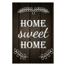 Tablou PT1432 Home sweet home, panza canvas + sasiu brad, stil motivational, 80 x 60 cm
