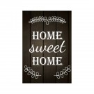 Tablou PT1432 Home sweet home, panza canvas + sasiu brad, stil motivational, 60 x 45 cm